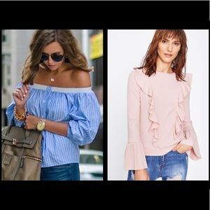 LOT OF 2 (used once!) SUMMER SPRING TOPS XS Size 0